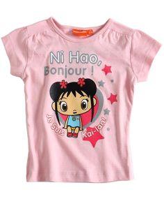 Kai Lan T-shirt rose Officiel Enfant Fille par UnCadeauUnSourire.com
