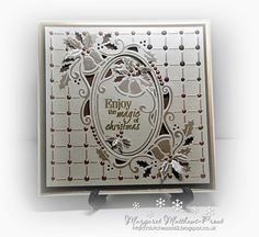 Ring out those bells. this is a lovely simple design so I kept the card the same.cut out of Ivory centura pearl card and the inke. Christmas Cards To Make, Xmas Cards, Christmas And New Year, Christmas Diy, Crafters Companion Cards, Christmas Crackers, New Year Card, Simple Designs, I Card