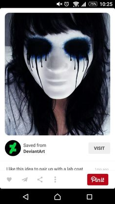 Looking for for ideas for your Halloween make-up? Browse around this site for creepy Halloween makeup looks. Creepy Masks, Amazing Halloween Makeup, Creepy Halloween Costumes, Halloween Looks, Halloween Face Makeup, Halloween 2015, Halloween Zombie, Scary Makeup, Fx Makeup