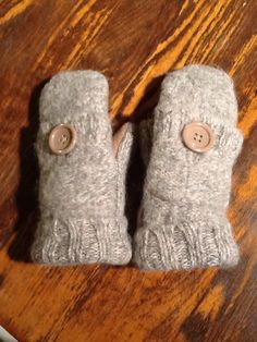 Just in case you need an extra pocket!  Wool and alpaca blend handmade sweater mittens