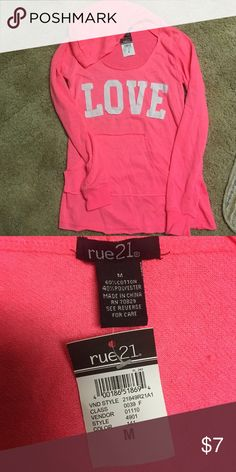 Pink Rue 21 Pullover Size M, never been worn! -No stains/tears -Pricing is negotiable Rue21 Sweaters Crew & Scoop Necks