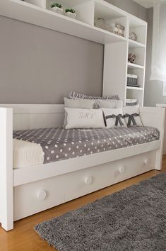 Different Types Bedroom Furniture And How To Make Your Bedroom Beautiful – Home Dcorz White And Silver Bedroom, Silver Bedroom Decor, Small Room Bedroom, Girls Bedroom, Ikea Girls Room, Teenage Bedrooms, Kids Bedroom Designs, Kids Bedroom Furniture, Bedroom Storage