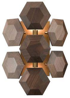 currey and company honeycomb wall sconce illuminated
