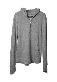 Grey Half-Zip Hoodie