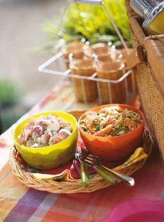 Salade de quinoa aux crevettes Recettes | Ricardo (fait avec mangue et avocat en plus)