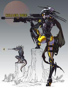 Killer Bee, Woo Kim on ArtStation at https://www.artstation.com/artwork/QxZ63