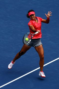 Na Li during her Match on Day3 of the 2013 US Open August 28-2013 #WTA #Li #USOpen