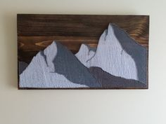 The mountains. String art. by Bigantic on Etsy