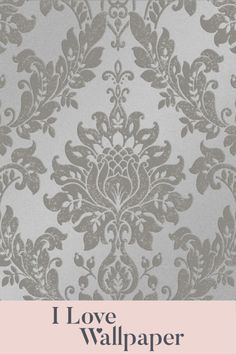 This gorgeous damask pattern has a stunning finish accompanied by light reflective metallic elements, providing a warm and welcoming feel to any living area in your home. Damask Wallpaper, Love Wallpaper, Living Area, Charcoal, Metallic, Romantic, Warm, My Love, Pattern