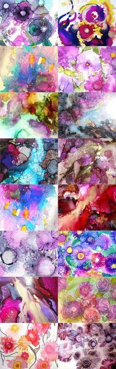Alcohol Ink Party by June Corst on Etsy--Pinned+with+TreasuryPin.com