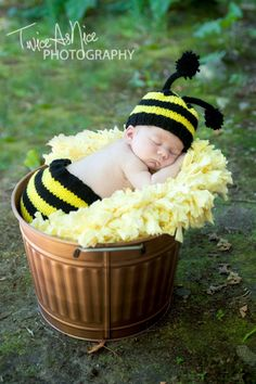 Newborn Bumble Bee Diaper Cover Set by PerkyBeanies on Etsy, $36.00