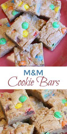 M&M Cookie Bars Recipe