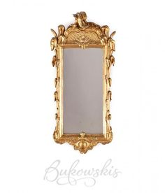 Rococo Mirror 1700's-Swedish Furniture From Bukowski Market-Gustavian, Gustavian Furniture, Rococo Swedish, Swedish Antiques, Swedish Auctio...