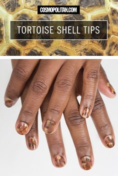 An easy how-to for gorgeous tortoise shell tips.