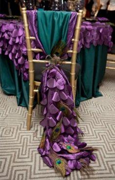 Peacock Wedding Chairs like table cloth Peacock Decor, Peacock Colors, Peacock Theme, Peacock Chair, White Peacock, Peacock Feathers, Wedding Themes, Our Wedding, Dream Wedding