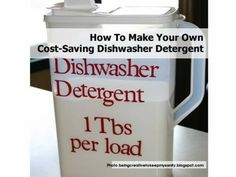 How To Make Your Own Cost-Saving Dishwasher Detergent - Home Tips World