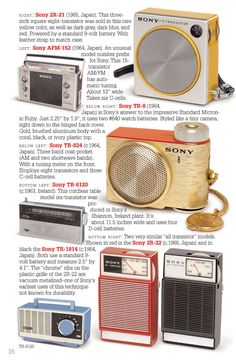 No products were more important in the success story of this multi-national giant than the little radios contained in these pages. Here is the definitive book on Sony radios. It covers all 126 collectible Sony models with more than 175 full color images. | eBay!