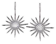 Star-burst earrings