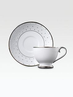 Prouna Crystal-Embellished Bone China Cup and Saucer    Best selling pattern from Prouna.