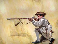 American Colonial Militia Rifleman Digital Art - American Colonial ...