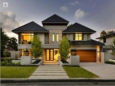 Fachadas de casas bonitas de dos pisos dos plantas Artistico