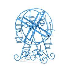 Doceira Roda Gigante Decorativa azul. Qualidade e charme diferenciado. Linda peça para deixar sua festa ainda mais elegante.