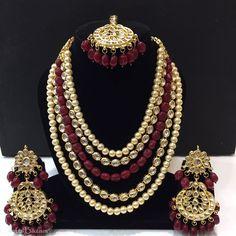 Bridal Necklace Set Gold Tone Kundan With Maang Tikka Woman & Girls-- Wedding Necklace Set, Bridal Earrings, Bridal Jewelry, India Jewelry, Jewelry Sets, Jewelry Accessories, Tikka Jewelry, Trendy Jewelry, Jewellery Box