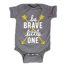 Be Brave Little One Script Yellow Arrows Hippie Novelty Infant Baby Bodysuit * Check out this great product.Note:It is affiliate link to Amazon.