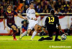 Barcelona 1-2 Real Madrid   Copa del Rey final 2014  at Estadio Mestalla. #HalaMadrid