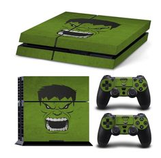 Hulk ps4 skin decal for console and controllers | Ps4 skins