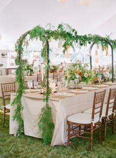 Set at the bride's historic family estate, this summertime wedding is a thoughtfully designed celebration with dusty blue, peach, gold and blush color tones woven throughout.