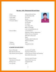 Biodata Format For Marriage Marriage Biodata Format Biodata