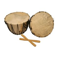 Nakers: Of middle-Eastern origin, these Medieval percussion instruments are played in pairs.  They resemble small kettledrums.