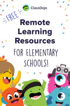 During school-wide remote learning, ClassDojo can provide you everything you need your community connected and learning. Homeschool Kindergarten, Preschool Learning, Teaching Kids, Kindergarten Graduation, Homeschooling, Learning Websites, Learning Resources, Teaching Methods, Google Classroom