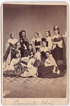 Civil War Sanitary Fair Women by J. H. Abbott Albany New York 1860s cdv - ID!