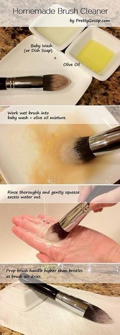 New Year Fab! 5 Easy Beauty Tips To Try In 2013 DIY Makeup Brush Cleaner Archives Makeup tips and ideas New Year Fab! 5 Easy Beauty Tips To Try In 2013 DIY Makeup Brush Cleaner Archives Makeup tips and ideas How To Clean Makeup Brushes, Makeup Tricks, Makeup Tools, Makeup Steps, How To Makeup, Makeup Brush Guide, Makeup Tutorials, Best Makeup Brushes, Makeup Beauty Hacks