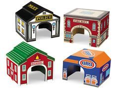 Block Play Garages - Set of 4 at Lakeshore Learning