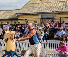L3M2AP1 Wood chopping Denman Food & Wine Festival.  The final cut.