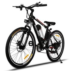 Ancheer Electric Mountain Bike with Removable Lithium-Ion Battery and Batte. - Ancheer Electric Mountain Bike with Removable Lithium-Ion Battery and Battery Charger - Folding Mountain Bike, Electric Mountain Bike, Mountain Bicycle, Mountain Biking, Mountain Bike Reviews, Electric Cycle, Best Electric Bikes, Bike Electric, Batterie Lithium