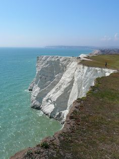Seaford, England   -  The town of Seaford, a quiet seaside resort, is located on the coast of the English Channel.   The Seven Sisters, a series of chalk cliffs, form part of the South Downs in East Sussex, between the towns of Seaford and Eastbourne in southern England.