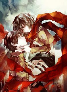 Eren Jaeger x Mikasa Ackerman_Attack on Titan_Shingeki no kyojin Armin, Eren X Mikasa, Eren Aot, Attack On Titan Eren, Attack On Titan Ships, Manga Art, Manga Anime, Eremika, Tokyo Ghoul