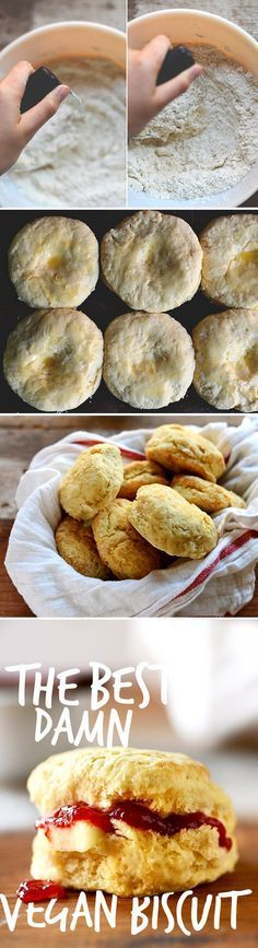 The Best Damn Vegan Biscuit! 30 minutes, ONE BOWL, 7 ingredients. Fluffy, buttery SO delicious. #vegan