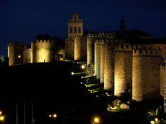 Murallas de Avila (Spain), night seeing