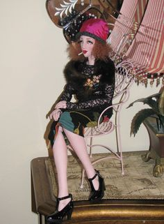 "Boudoir Doll Ooak Octavia 25"" Vintage Inspired Smoker Lady ART Doll Gayle Wray | eBay"