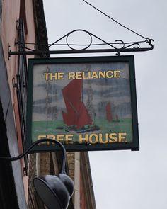 Pub Sign Art a la cARTe: The Reliance, London, Shoreditch Pub Signs, Beer Signs, Shop Signs, British Pub, Shop Windows, Pub Bar, Old Street, Coffee Shop, Signage