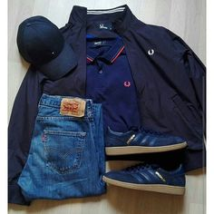Outfit grid - Fred Perry & Levi's