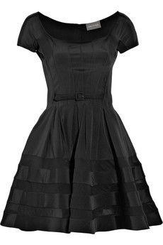 Zac Posen Belted Flare Dress