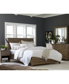 Canyon Bedroom Queen Bed - Beds & Headboards - Furniture - Macy's