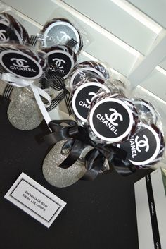 Black  White Chanel theme Birthday Party Ideas | Photo 1 of 17 | Catch My Party