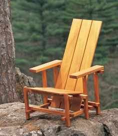 Reitveld Chair We've turned an icon of modern design into a comfortable, easy-to-build outdoor project. By Tom Caspar In 1918 the Dutch cabinetmaker Gerrit Rietveld reduced the idea of a chair to a 3D grid of painted sticks and boards. His revolutionary design became one of the most famous pieces of 20th-century furniture—the Red- Blue chair. Let's take a new look at it. Although his chair appears easy to put …